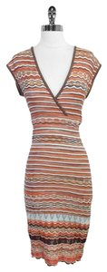 Missoni short dress Orange Brown Striped on Tradesy