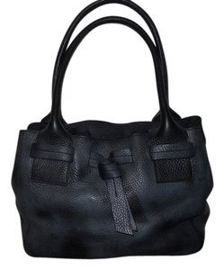 Talbots Leather Shoulder Tote in black