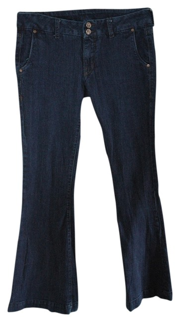 William Rast Flare Leg Jeans-Dark Rinse