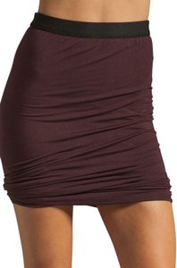 Alexander Wang Draped Stretchy Modal Mini Mini Skirt