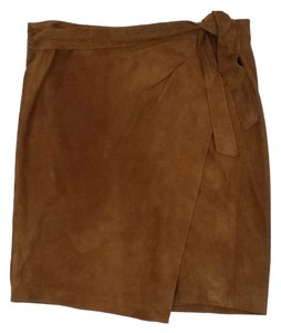 Vince Tan Suede Skirt