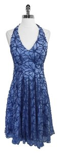 Eva Franco short dress Delila Blue Floral Crochet on Tradesy