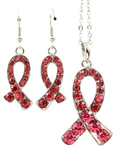 pink ribbon breast cancer awareness set