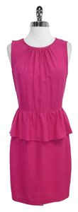 Trina Turk short dress Pink Peplum Sleeveless on Tradesy