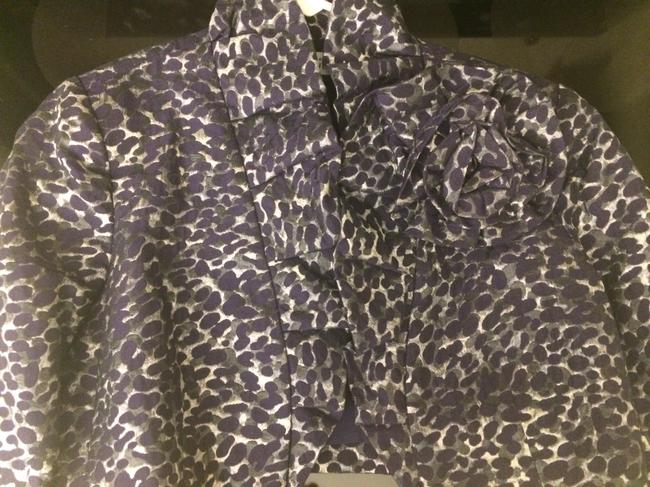 Rickie Freeman for Teri Jon Bolero Brocade Purple, Silver Blazer