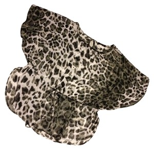 Renuar Top Black leopard print