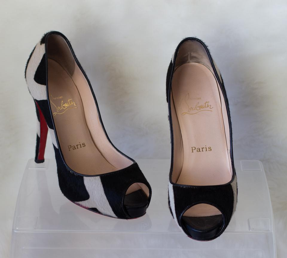 789d4aea3be8 Christian Louboutin White Very Prive Pony Hair Pumps Size EU 36.5 (Approx.  US 6.5) Regular (M