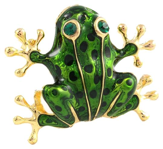 Other green & gold frog pin