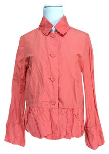 Chico's Ruffle Ramy Promise Coral Jacket