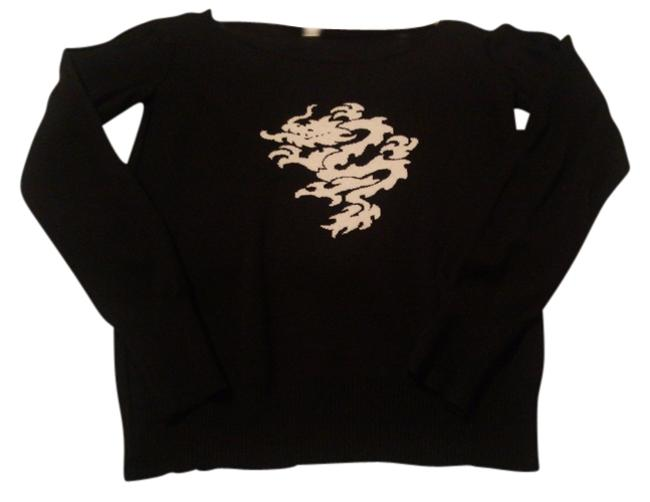 Preload https://item1.tradesy.com/images/black-w-cream-dragon-motif-sweaterpullover-size-8-m-739565-0-0.jpg?width=400&height=650