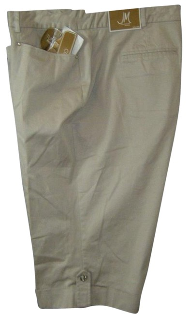 JM Collection Comfort Waist Tummy Control Capris BEIGE
