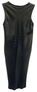 Ann Demeulemeester Silk Ruching Sleeveless Sheath Dress