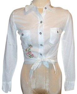 Elan Button Down Shirt White