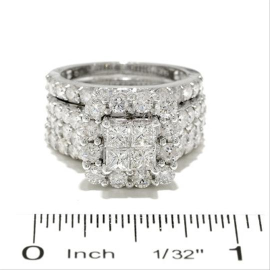 White/White Gold 4 Ct. T.w. Princess-cut Quad Diamond Frame Women's Wedding Band