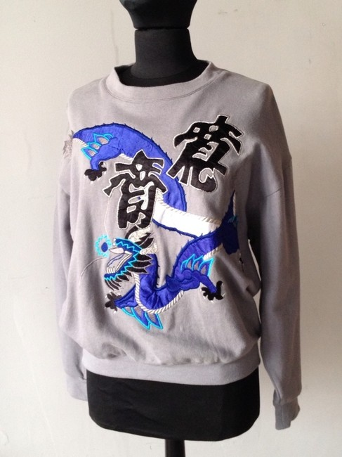 Kansai Yamamoto Vintage Dragon Japanese Designer Embroidery David Bowie Sweater