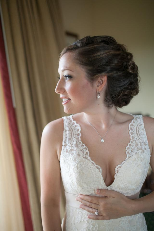 Allure Bridals Champagne Gown with Ivory Lace Applique English Net ...
