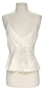 Plenty by Tracy Reese Linen Lace Trim Top Ivory