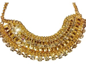 Gorgeous Necklace Gold TONE With Rhinestone