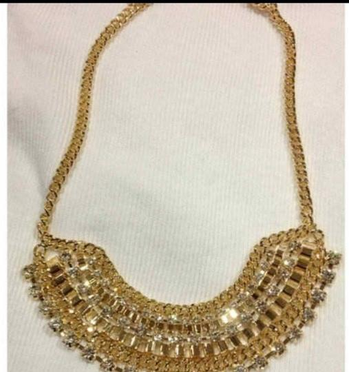 Other Gorgeous Necklace Gold TONE With Rhinestone