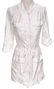 Paul & Joe short dress White Silk Belted Button-down on Tradesy