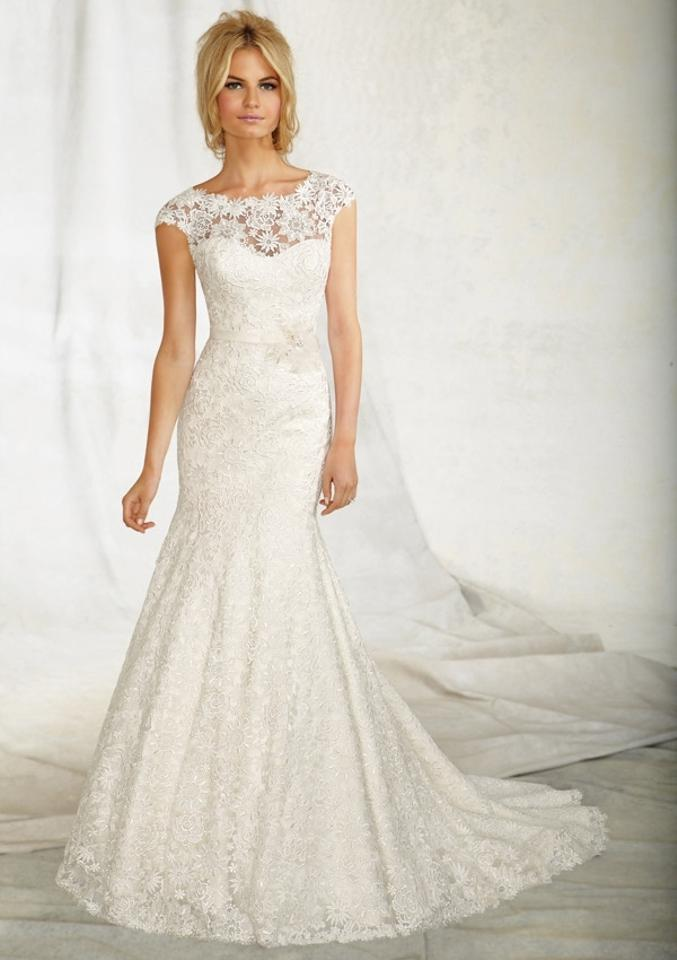 Mori Lee Off White Lace Open Back 1257 Vintage Wedding Dress Size 4 ...