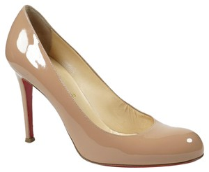Christian Louboutin Simple 100mm 39.5/9 Patent Leather Round Toe Pump Wedding Shoes