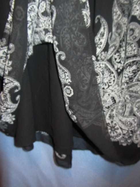 Coldwater Creek Skirt black with rpint Image 1