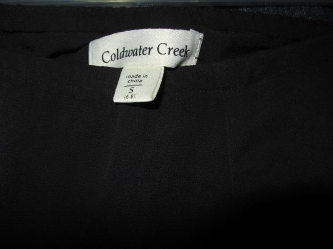 Coldwater Creek Skirt black with rpint Image 3