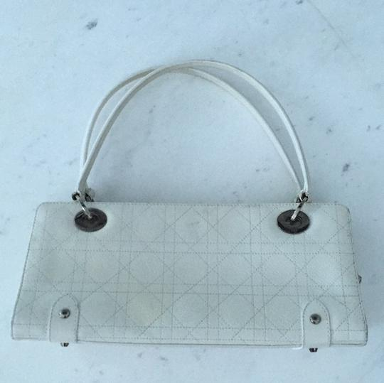 Dior Christian Satchel in White Image 2