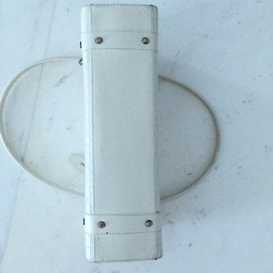 Dior Christian Satchel in White Image 5