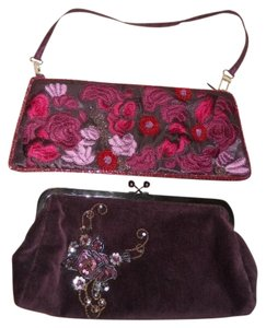 Express burgandy Clutch