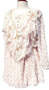 Pretty Angel Extremely Romantic Vintage Look Rhinestones And Lace Curly Light Way Sweater