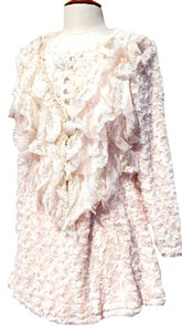 Pretty Angel Romantic Sofest Fabric You's Ever Felt Rhinestones And Lace Vintage Look Romantic Look Extra Large Sweater