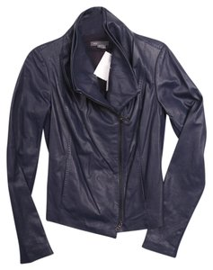 Vince Mallard Leather Blue Leather Jacket