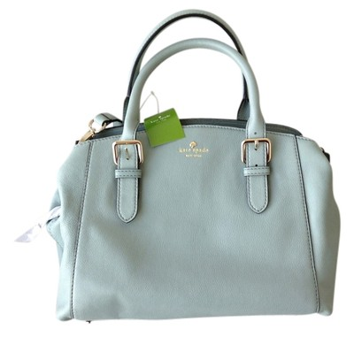 Kate Spade Leather Bag - Satchel in Dusty blue