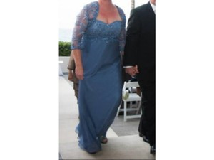Blue-Grey Montage By Mon Cheri Dress