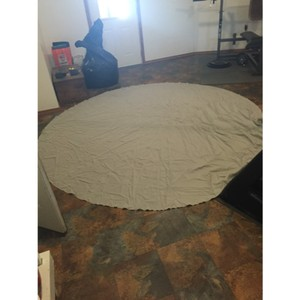"Light Grey 116"" Round Tablecloth"