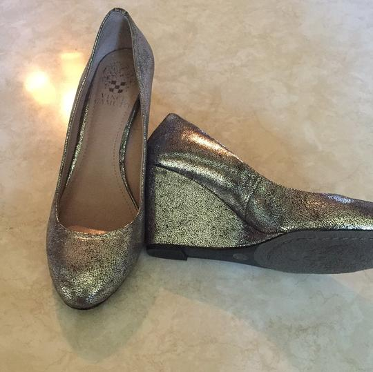 Vince Camuto Silver Wedges Image 1