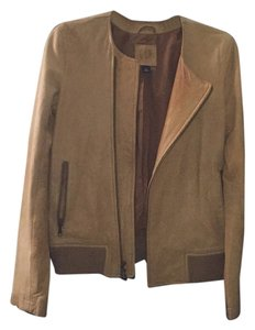 Gap Camel Leather Jacket