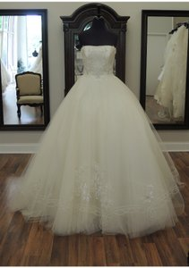 Ines Di Santo Champaigne/Ivory Wedding Dress Size 4 (S)