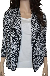 Dana Buchman Animal Print Open Front Sweater