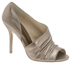 ALDO Open Toe Pewter Metallic Pumps