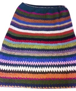 Neesh Bohemian Urban Anthropologie Knit Skirt Multi