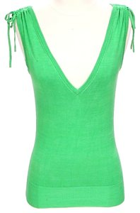 Diane von Furstenberg Sleeveless V-neck Silk Knit Sweater
