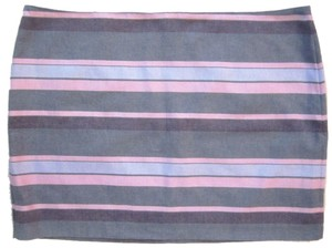 Gap Skirt Grey Blue Pink Striped