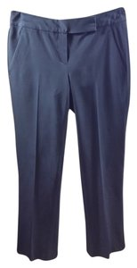 Theory Tech Polyester Slim Night Out Straight Pants Black