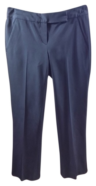 Theory Tech Polyester Slim Night Out Date Night Straight Pants Black