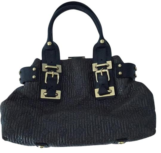 Preload https://img-static.tradesy.com/item/7408480/louis-vuitton-black-leather-and-sinthetic-satchel-0-3-540-540.jpg