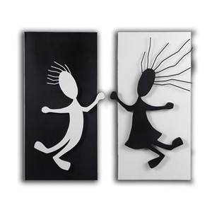Opposites Attract ~ Wall Art Piece ~ New