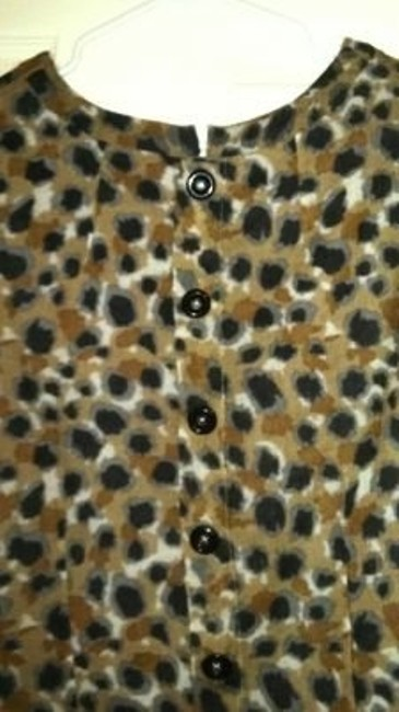 Anthropologie Top Animal print
